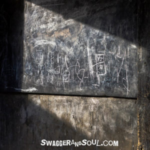 A smudged old blackboard - the confusion clears