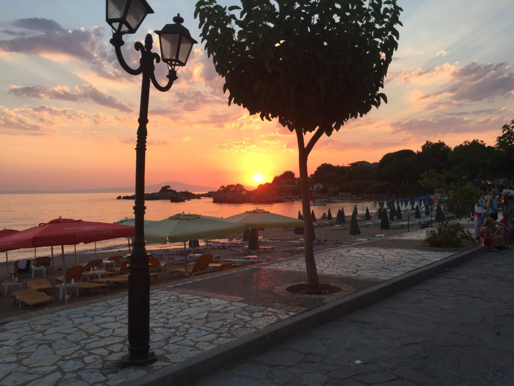 Sunset, Cafe Aktaion, Stoupa